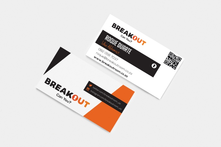 Breakout business card mockup
