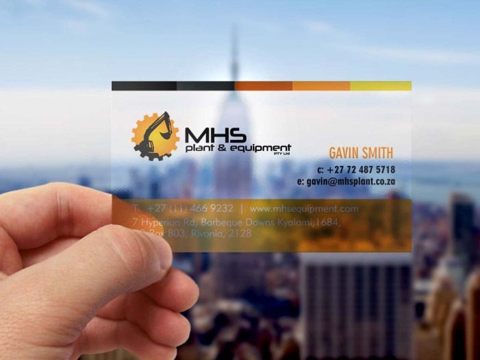 MHS business card mockup
